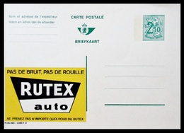 BELGIQUE ENTIER CP PUBLIBEL N° 2380 FN . RUTEX AUTO .  . NEUF - Stamped Stationery