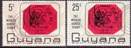 GUYANA 1967 SG 414-15 Compl.set Used World's Rarest Stamp - Guyana (1966-...)
