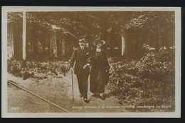 FOTOKAART  KEIZER WILHELM II EN KEIZERIN HERMINE WANDELEND TE DOORN - Militaria