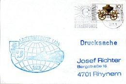 """(UB) BRD Umschlag Mit Cachet-Zudruck """"Unterseeboot """"U24-S173""""-Schiffsstempel"""" EF BRD MWSt 18.11.76 ECKERNFÖRDE - U-Boote"""