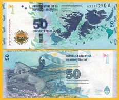 Argentina50 Pesos P-362a 2015 (Suffix A) UNC Banknote - Argentinien