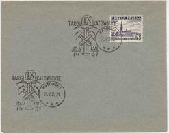 Poland 1937 Occasional Cancellation Fairs Katowice Mining Tools / Bergbau H108 - Fabbriche E Imprese