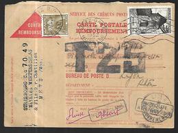 France Bulletin Contre Remboursement  Taxé   Du 29   07 1952    De Metz Vers  Lyon - France