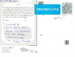 25C : Czech Republic Architecture Building Stamp Used On Hrad Qkor Castle Postcard - Repubblica Ceca