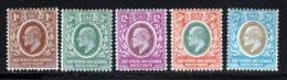 Afrique Orientale 1907 Yvert 124 - 125 - 128 - 131 - 132 * B Charniere(s) - Kenya, Uganda & Tanganyika