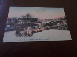 B687   Shanghai Chinese Tea House Cm14x9 Piega Angolo E Varie Macchie Come Da Foto - Cina