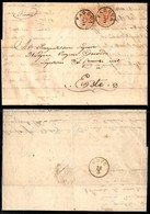 Antichi Stati Italiani - Lombardo Veneto - Due 15 Cent (20) - Lettera Da Padova A Este Del 27.3.57 - Timbres