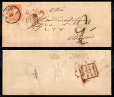 Antichi Stati Italiani - Lombardo Veneto - Padova (datario Capovolto) - 5 Soldi (30) - Bustina Tassata Per Brescia Del 1 - Stamps