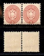 Antichi Stati Italiani - Lombardo Veneto - 1864 - 5 Soldi (43) - Coppia Orizzontale - Gomma Integra (100+) - Stamps