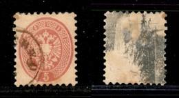 Antichi Stati Italiani - Lombardo Veneto - 1864 - 5 Soldi (43) Usato A Oderzo (rossastro - P.ti 7) - Stamps