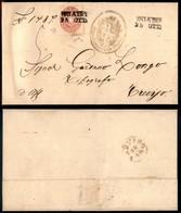 Antichi Stati Italiani - Lombardo Veneto - Noale (P.ti 3) - 5 Soldi (43) Su Lettera Per Treviso - Dienta + Chiavarello ( - Stamps