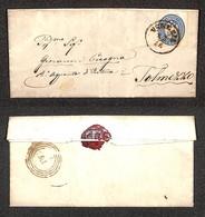Antichi Stati Italiani - Lombardo Veneto - 10 Soldi (44) Su Letterina Da Venezia A Tolmezzo Del 13.11.65 (70) - Stamps
