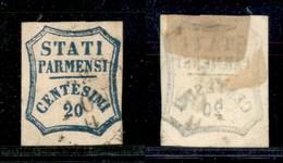 Antichi Stati Italiani - Parma - 1859 - 20 Cent (15) - Piccoli Punti Chiari (600) - Non Classés