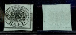 Antichi Stati Italiani - Stato Pontificio - 1852 - 1 Bai (2) Angolo Di Foglio - Stamps