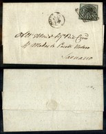 Antichi Stati Italiani - Stato Pontificio - 1 Bai (2) Con Grandi Margini Su Lettera Da Macerata A Sarnano - Timbres