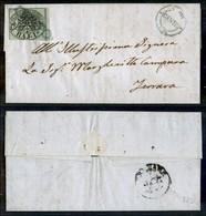 Antichi Stati Italiani - Stato Pontificio - Cento (P.ti 3) - 1 Bai 2 Corto In Basso - Letterina Per Ferrara Del 1.9.56 - Stamps