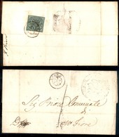 Antichi Stati Italiani - Stato Pontificio - 1 Bai (2) Al Retro Di Lettera Da Fermo A M. Fiore Del 27.7.52 - Timbres