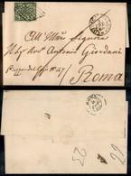 Antichi Stati Italiani - Stato Pontificio - Civita Castellana (P.ti 3) - 2 Bai (3) Su Lettera Per Roma Del 3.2.64 - Timbres