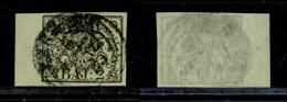 Antichi Stati Italiani - Stato Pontificio - 1852 - 2 Bai (3a) Bordo Foglio - Timbres