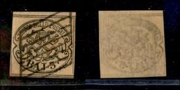 Antichi Stati Italiani - Stato Pontificio - 1852 - 3 Bai (4) Bordo Foglio (80+) - Timbres