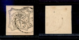 Antichi Stati Italiani - Stato Pontificio - 1852 - 8 Bai (9) - Grigio - Bordo Foglio - Timbres