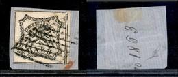Antichi Stati Italiani - Stato Pontificio - 1852 - 8 Bai (9) Bordo Foglio Su Frammento (90+) - Stamps