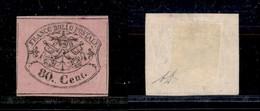 Antichi Stati Italiani - Stato Pontificio - 1867 - 80 Cent (20) - Senza Gomma - Diena (80) - Non Classés