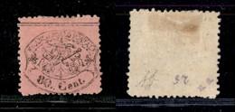 Antichi Stati Italiani - Stato Pontificio - 1868 - 80 Cent (30) - Diena (100) - Stamps