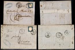 Antichi Stati Italiani - Sardegna - 1861/1862 - Due Lettere Col 20 Cent (15D) Per Civitavecchia E Roma - Corti Da Un Lat - Timbres