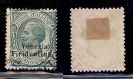 Occupazioni I Guerra Mondiale - Trentino-Alto Adige - 1918 - 5 Cent Leoni (21C) - T Spostata A Sinistra - Usato (120) - Stamps