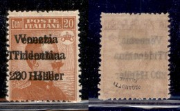 Occupazioni I Guerra Mondiale - Trentino-Alto Adige - 1918 - 20 Heller Su 20 Cent Michetti (30b) - Doppia Soprastampa Di - Stamps