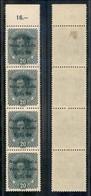 Occupazioni I Guerra Mondiale - Venezia Giulia - 1918 - 20 Helller (7) - Striscia Di 4 Bordo Foglio - Due Pezzi Gomma In - Stamps