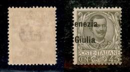 Occupazioni I Guerra Mondiale - Venezia Giulia - 1918 - 45 Cent (26eab) Con V A Destra - Gomma Integra Bruna (300) - Timbres