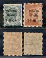 Occupazioni I Guerra Mondiale - Venezia Giulia - 1919 - Soprastampati (30/31) - Serie Completa - Gomma Integra (12) - Stamps
