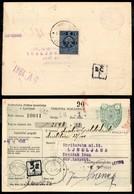 Occupazioni II Guerra Mondiale - Lubiana - 2 Din (3-Segnatasse) Al Retro Di Vaglia Da Lubiana Del 20.4.41 - Stamps