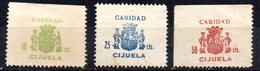 Viñeta Caridad Cijuela Nº 1/3 - Verschlussmarken Bürgerkrieg