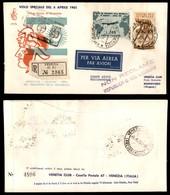 Repubblica - Gronchi (919 + Complementare) - Busta FDC Venetia Raccomandata Da Roma A Montevideo Del 6.4.61 - Stamps