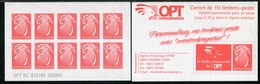 """CARNET** De 2009 De 10 TIMBRES """"Le Cagou, Rouge Type Lavergne""""  Avec Date 010709  Et N° 003095 - Booklets"""