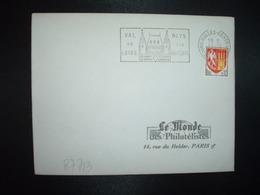 LETTRE TP AGEN 0,12 OBL.MEC.15-12 1964 TOURS HALLES CENTRALES I. ET L. (37 INDRE ET LOIRE) - Marcofilie (Brieven)