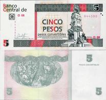 Cuba 2017 - 5 Pesos Convertibles - Pick NEW UNC - Cuba