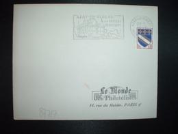 LETTRE TP TROYES 0,10 OBL.MEC.18-1 1964 AZAY LE RIDEAU INDRE ET LOIRE (37) SON CHATEAU RENAISSANCE SES VINS SES FRUITS - Postmark Collection (Covers)