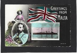 CPA Malte Royauté Royalty Circulé - Malta
