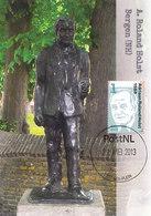 D37698 CARTE MAXIMUM CARD FD 2013 NETHERLANDS - DUTCH POET A. ROLAND HOLST STATUE AT BERGEN (NH) CP ORIGINAL - Altri