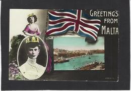 CPA Malte Royauté Royalty écrite - Malta