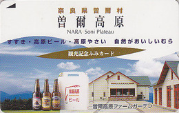 Carte Prépayée Japon - ALCOOL - BIERE - BEER  Japan Fumi Card - BIER Prepaid Karte  - CERVEZA - 817 - Publicité