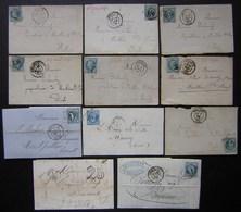 Besançon, Lot De 11 Lettres Entre 1850 Et 1875, Voir Photos De Détail - Postmark Collection (Covers)