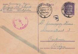 Deutsche Karte, Arbeiter In Hengsen über Schwerte 1943 Nach Oostende/ Belgien. - Weltkrieg 1939-45