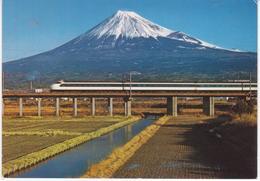 °°° 13448 - JAPAN - BULLET TRAIN ON THE NEW TOKAIDO LINE , SHIZUOKA °°° - Altri