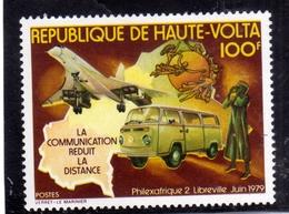 ALTO VOLTA HAUTE VOLTA UPPER VOLTA BURKINA FASO 1979 PHILEXAFRIQUE MAP UPU CONCORDE 100fr  MNH - Alto Volta (1958-1984)