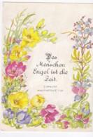 AK41 Flowers With German Text, Besinnliche Denksprueche - Flowers, Plants & Trees